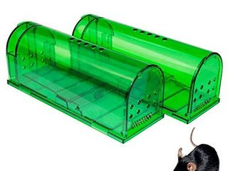 Humane Mouse Trap   Mouse Traps That Work Best Mouse  Mice and Rat Trap Plastic Traps live Catch and Release Rodents  Safe Around Children and Pets  2Packs