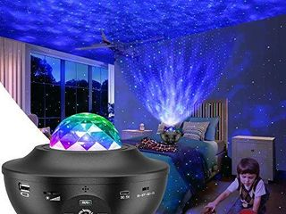 Night light Projector 3 in 1 Galaxy Projector Star Projector w lED Nebula Cloud with Bluetooth Music Speaker for Baby Kids Bedroom Game Rooms Home Theatre Night light Ambiance  Black   Black