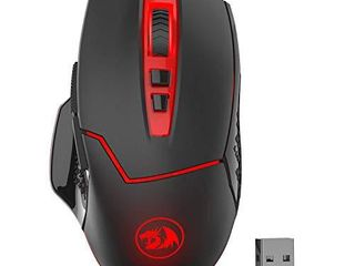 Redargon M690 1 Wireless Gaming Mouse with DPI Shifting  2 Side Buttons  2400 DPI  Ergonomic Design  8 Buttons Black