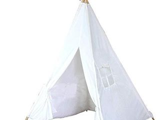 Teepee Tent for Kids   Tipi Tents Indoor Outdoor   Play Tent Foldable 5 Feet Tall 4 Poles   Customizable Tent   large Childrens Teepee Tents for Girls and Boys Kids Teepee Tent   Strong Wooden Poles