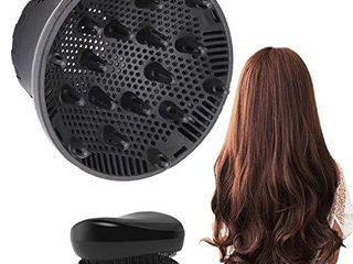 Hair Diffuser  Universal Diffuser Hair Dryer Attachment Suitable for 1 4 inch to 2 6 inch for Dryer Nozzle  Professional Blow Dryer Diffuser Attachment for Fine Thick Curly Frizzy and Wavy Hair
