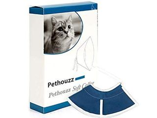 Pethouzz Soft Cat Recovery Collar  Cat Cone Collar  Nonwoven Fabric Elizabeth Collar  loops Protective Wound Healing Specially Designed for Cats   Easy for Cats to Eat and Drink  M