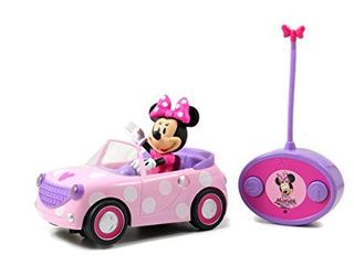Disney Junior Minnie Mouse Roadster RC Car with Polka Dots  27 MHz  Pink with White Polka Dots  Standard  97161