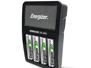 Energizer Rechargeable AA and AAA Battery Charger  Recharge Value  with 4 AA NiMH Rechargeable Batteries