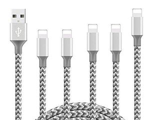 WIllTOP iPhone Charger Cord Cable MFi Certified Cable 5Pack 3 3 6 6 10FT  Extra long Nylon Braided USB Fast Charging Syncing Cable Compatible with iPhone 11 Pro Xs Max X 8 7 Plus 6S 6 SE 5S