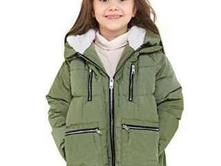 Orolay Children Hooded Down Coat Girls Quilted Puffer Jacket Boys Winter Jackets Green 120CM