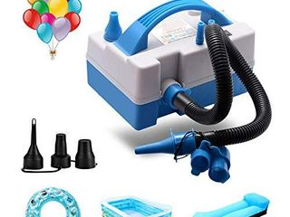 Balloon Pump  Balloon Inflator  Electric Balloon Blower Inflator with Multipurpose Hose Extension  Portable Balloons Inflator with Nozzles for Inflatables Couch  Pool Floats  Inflatable Toy  Compression Bag