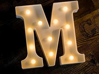 Foaky lED letter lights Sign light Up letters Sign for Night light Wedding Birthday Party Battery Powered Christmas lamp Home Bar Decoration M