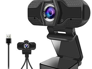 Webcam for PC  1080P Webcam with Privacy Cover USB Web Camera with Microphone Desktop Video Camera for Mac laptop Computer  Streaming Webcams with Flexible Clip and Tripod for Video Calling Recording