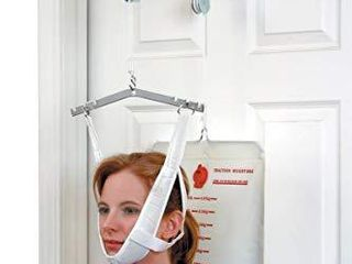DMI Cervical Neck Traction Over the Door Device for Physical Therapy Helps Neck Pain  Arthritis  Disc Bulges and Minor Fractions of the Spine with 20 Pound Graduated Scale
