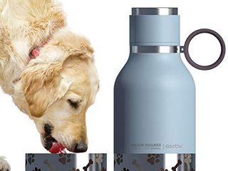 Asobu Dog   Pet Bowl Attached to Stainless Steel Insulated Travel Water Bottle 1 liter