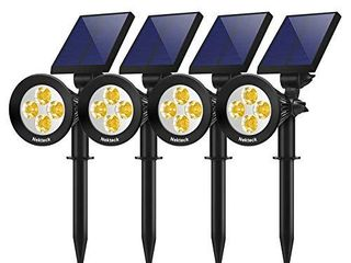 Nekteck 4 Pack Solar lights 2 in 1 Outdoor Solar Spotlights Powered Adjustable Wall light landscape lighting Bright and Dark Sensing Auto On Off for Yard  Pathway  Walkway  Garden  Driveway