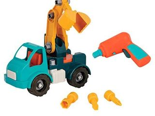 Battat   Take Apart Crane Take Apart Toy Crane Truck with Toy Drill Building Toys for Kids 3 years    33 Pcs