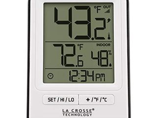 la Crosse Technology 308 1409WT CBP Wireless Temperature Station  White
