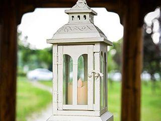 Ninganju Rustic Style Decorative lantern Beige Temple Hanging lanterns lantern for Indoor  Outdoor Patio  Party lights  Weddings 11 5