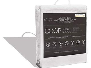 Coop Home Goods Mattress Protector   100  Waterproof  Hypoallergenic   Ultra Soft Breathable Bed Mattress Cover   Silent Mattress Pad Protection   Oeko TEX Certified lulltra Fabric   Queen