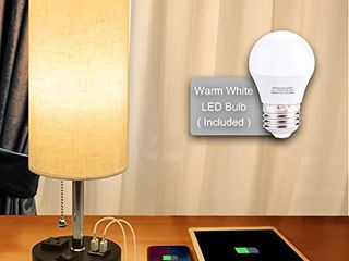 USB Bedside lamp Cotanic Modern Table lamp with Charging Ports Nightstand lamps for Bedrooms Cylindrical Minimalist Fabric linen Desk lamp Shade with Pull Chain