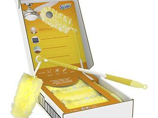 Swiffer Dusters Heavy Duty Extender Starter Kit  13 Piece Set  1 Handle  12 Dusters