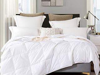 lightweight Goose Down Comforter King 100  Organic Cotton Hypoallergenic Duvet Insert 1200 Thread Count White Comforter 106x90Inches