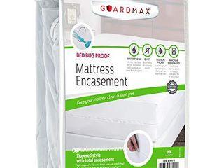 Guardmax Queen Mattress Protector Cover Zippered   100  Waterproof Bed Bug Encasement   Soft  Hypoallergenic and Breathable   Queen Size  60 x80