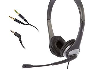 Cyber Acoustics Stereo Headset  headphone with microphone  great for K12 School Classroom and Education  AC 204  Black