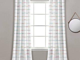 Ombre Stripe Yarn Dyed Cotton Window Curtain Panel Set