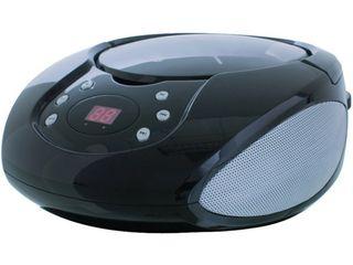 GPX CD Boombox with AM FM Radio  Black