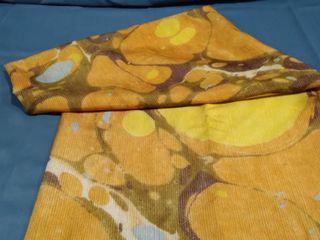 Orange Acid Stain Shower Curtain