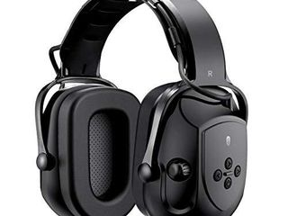 Mpow HP102A Bluetooth Noise Reduction Safety Ear Muffs  NRR 29dB SNR 36dB Adjustable Ear Hearing Protection Headphones with 3 5mm AUX  Built in Mic  Rechargeable Battery and Volume Control  Black
