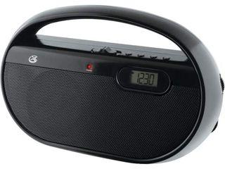 GPX R602B AM FM Portable Clock Radio  Black