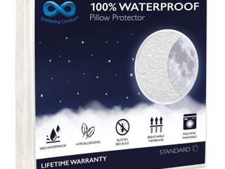 EVERlASTING COMFORT 100  WATERPROOF PIllOW PROTECTOR