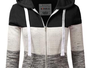 DoublJu  Xl  Sweater Hoodie  Gray Black White