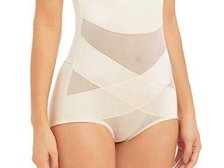 PAUKEE Women Shapewear Slimmer Body Shaper Hi Waist Tummy Control Compression Butt lifter Panties Girdle Beige