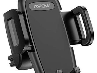Mpow Car Phone Mount  Air Vent Phone Holder  3 level Adjustable Clip  Upgrade Clamp Arm  One Button Release  Rotatable Phone Mount Compatible iPhone 12 11 Pro MAX XS XR X 8 7 6Plus Galaxy S20 Etc