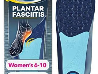 Dr  Scholl s Plantar Fasciitis Pain Relief Orthotics  Clinically Proven Relief and Prevention of Plantar Fasciitis Pain for Women s 6 10