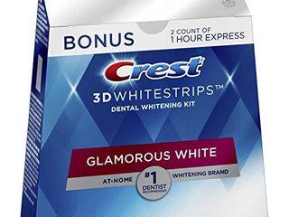 Crest 3D Whitestrips Glamorous White  Teeth Whitening Kit  16 Treatments  32 Individual Strips    2 Bonus 1 Hour Express Treatments