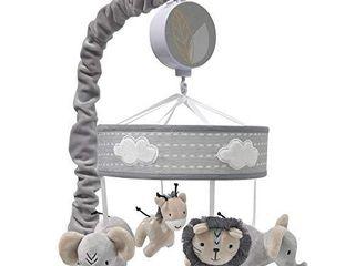 lambs   Ivy Jungle Safari Musical Baby Crib Mobile   Gray  Beige  White  Animals