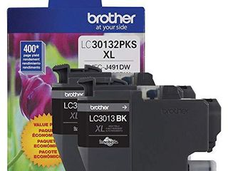Brother Genuine lC30132PKS 2 Pack High Yield Black Ink Cartridges  Page Yield Up to 400 Pages Cartridge  lC3013