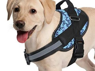 Adjustable Dog Harness  No Pull Dog Harness Outdoor Vest with Easy Control Handle  Hook and Front Reflective Straps   No More Pulling  Tugging or Choking for Small Medium large Dogs