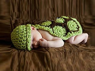 PIXNOR Newborn Turtle Costume Knitted Baby Photo Photography Prop for 0 6 Months