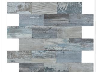 Art3d 10 Pack Peel and Stick PVC Composite Backsplash Tiles  13 5x11 4  Distressed Wood Panels