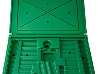 SK Hand Tool ABOX 94547 Blow molded replacement case for 94547  94547 12 and 94549 3 8  Drive Socket Sets  Green