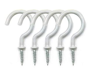 Aoyoho 25 Pack Vinyl Coated Screw in Ceiling Hooks Cup Hooks Overall length 2 9