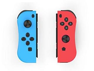 Skywin NS Switch Joy Pad Controllers   left and Right Controllers Compatible with Nintendo Switch as a Joy Con Controller Replacement   Red Blue