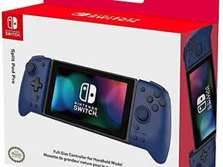 Hori Nintendo Switch Split Pad Pro  Blue  Ergonomic Controller for Handheld Mode   Officially licensed By Nintendo   Nintendo Switch