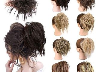 MORICA Messy Bun Hair Pieces for Women Scrunchies for Hair Extensions Tousled Elastic Rubber Band Hairpiece Synthetic Hair updo Scrunchies Ponytail Hairpiece
