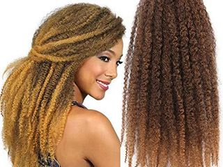 Marley Twist Braiding Hair 3 Packs 18 Inch Afro Kinky Curly Hair Extension Synthetic Crochet Braids