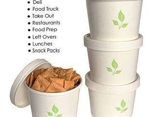 Greenvali 12oz Disposable Paper Soup Cup and lId  100 PACK