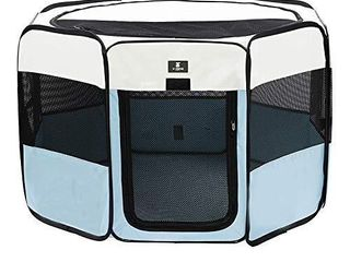 X ZONE PET Portable Foldable Pet Dog Cat Playpen Crates Kennel Premium 600D Oxford Cloth Removable Zipper Top  Indoor and Outdoor Use  Small  Black