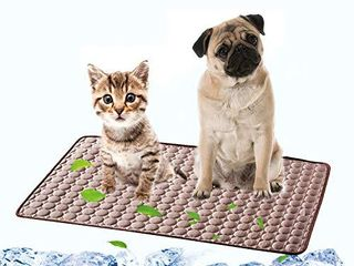 Dog Cooling Mat Pet Self Cooling Sleep Pad Washable Ice Silk Blanket for Kennel Sofa Car Seat Bed Floor